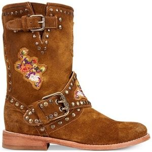 Frye Nat Flower Engineer Boots